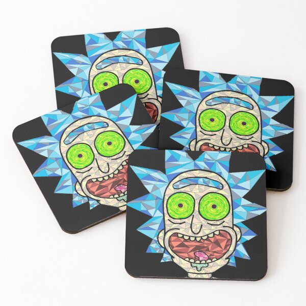 Rick portal eye Coasters (Set of 4)