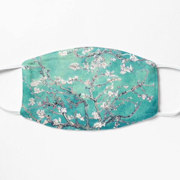 Vincent Van Gogh Almond Blossoms Turquoise Elegance Mask