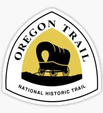 Oregon Trail Sign, USA Sticker