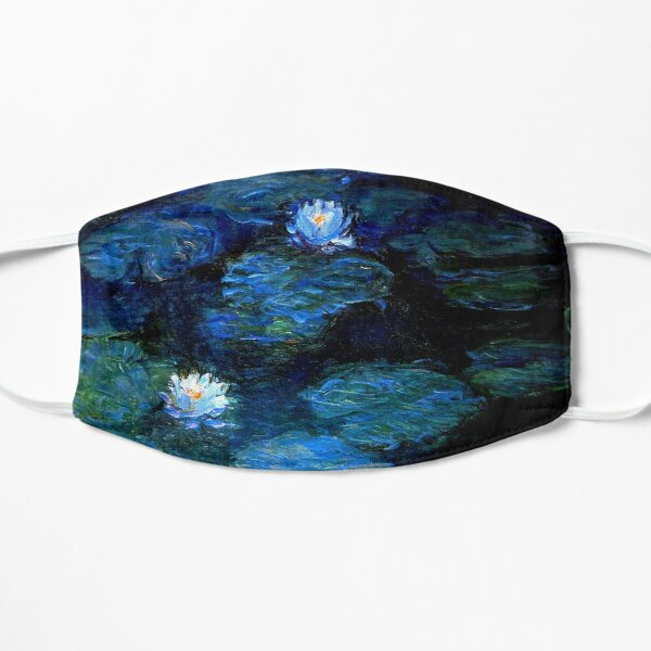 Water Lilies Monet deep blue Mask