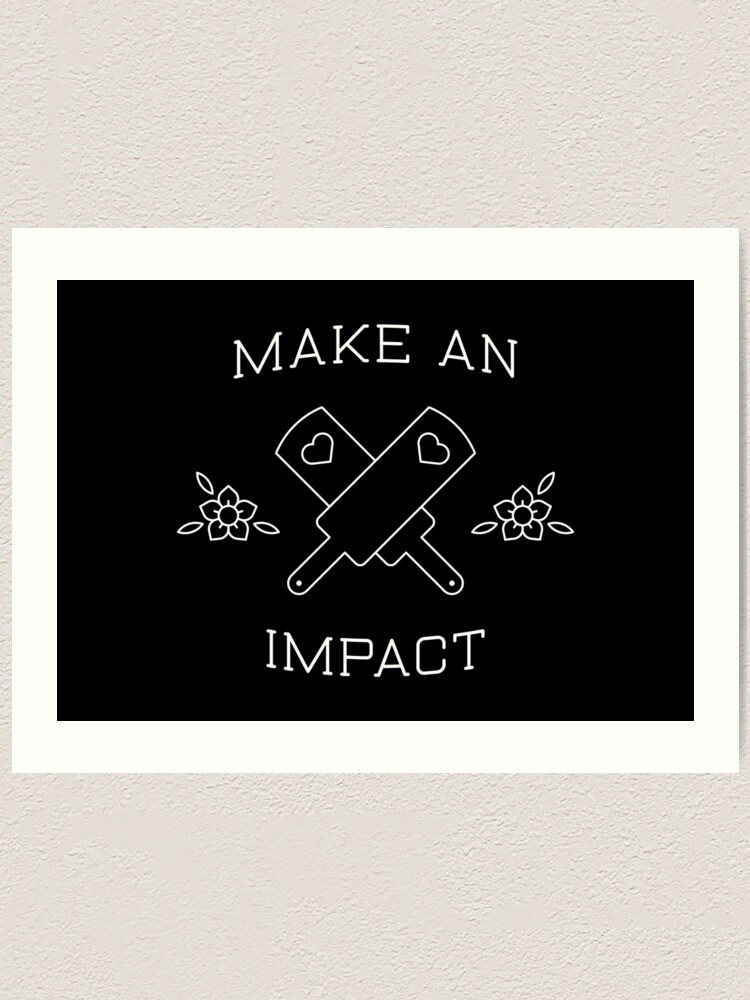 Alternate view of Make An Impact Art Print
