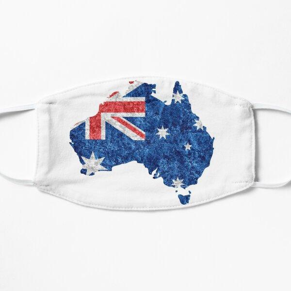 Australia Flag and Map Flat Mask