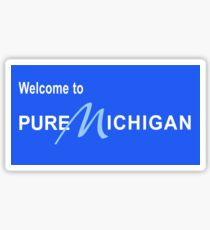 Welcome to Pure Michigan Road Sign Sticker