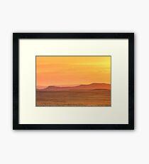 Leveling Sunset Framed Print