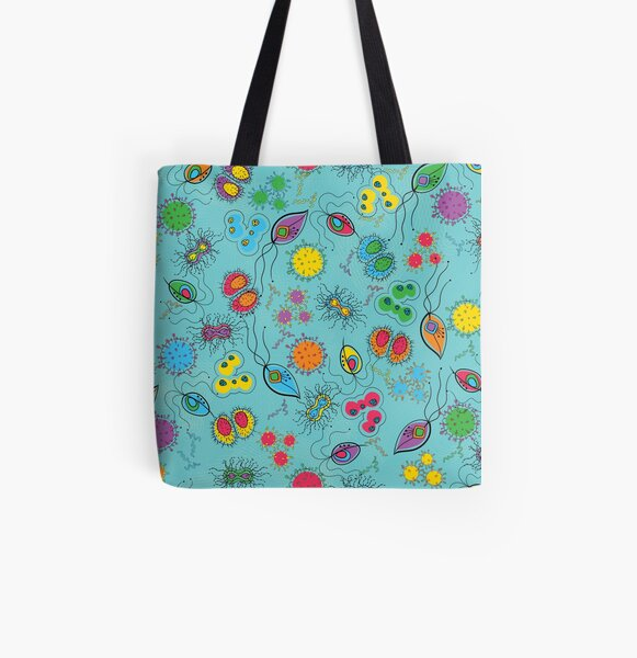 sexually transmittable microbes All Over Print Tote Bag