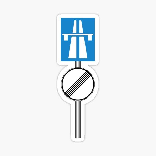 Autobahn No Speed Limit Sticker