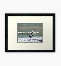 Wave Jumper Framed Print