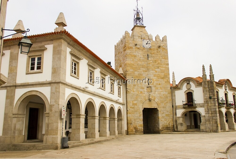 The clock tower in Caminha by João Figueiredo