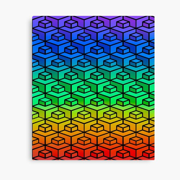 Rainbow Geometry Pattern  Canvas Print