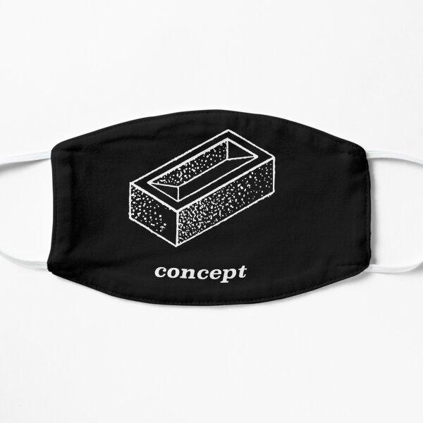 Brick Concept (d'après Deleuze), version blanc sur noir. Masque taille M/L