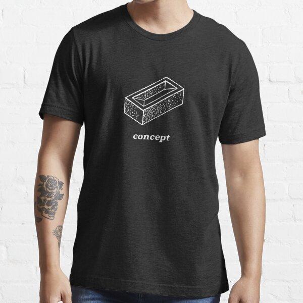 Brick Concept (d'après Deleuze), version blanc sur noir. T-shirt essentiel