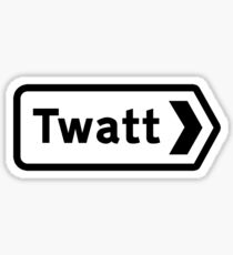 Twatt, Road Sign, UK Sticker
