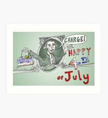 GW Charge of Liberty on the 4th of July Art Print