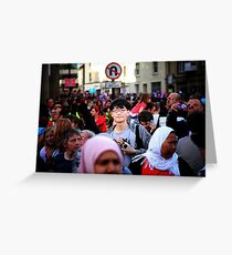 A Moment In The Crowd Greeting Card