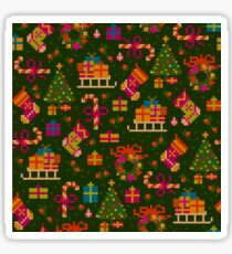 christmas x-stitch pattern for the holiday mood Sticker