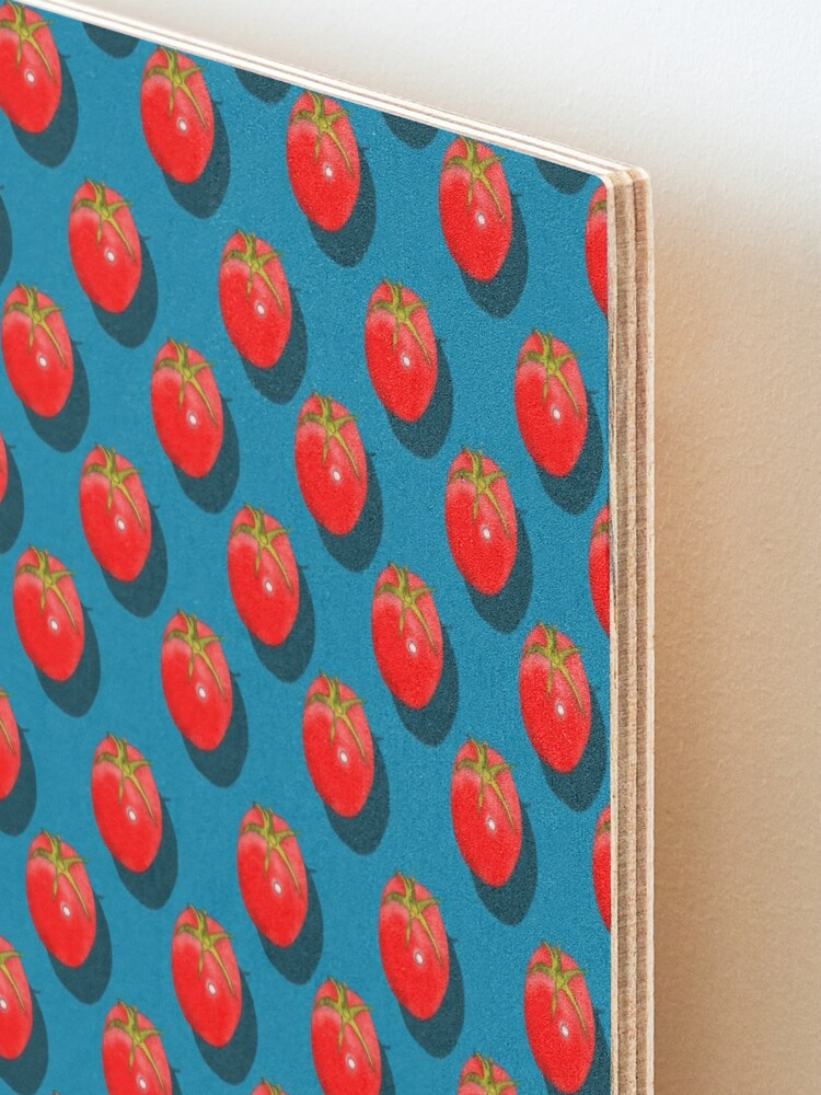 Alternate view of Tomatoes Fruit - Dark Blue background Mounted Print