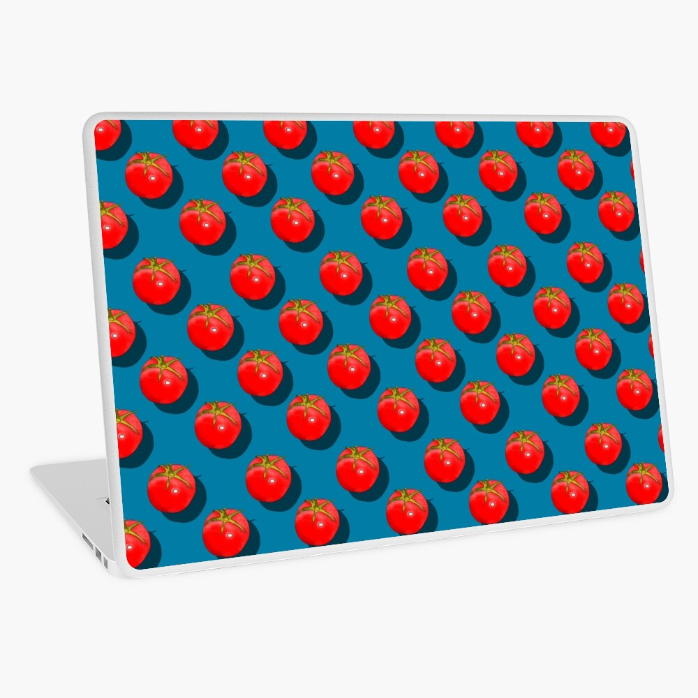Tomatoes Fruit - Dark Blue background Laptop Skin