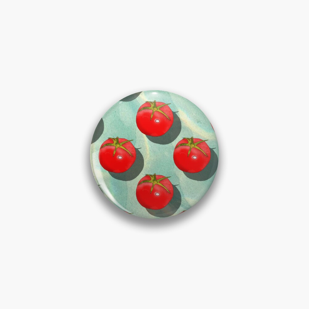 Tomatoes Fruit - Light Green background Pin