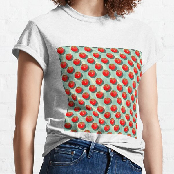 Tomatoes Fruit - Light Green background Classic T-Shirt