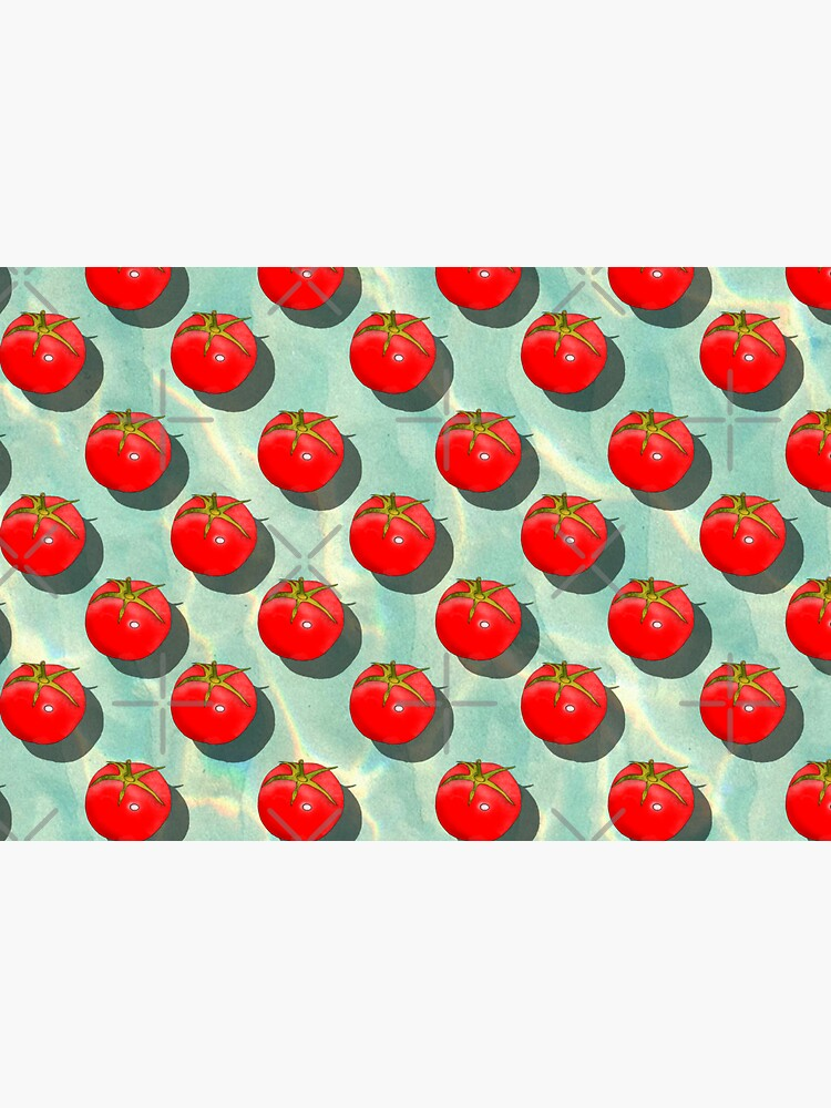 Tomatoes Fruit - Light Green background by adarovai
