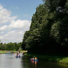 Fun on the river in a canoe by Mark Bunning
