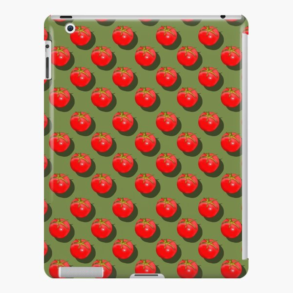 Tomatoes Fruit - Green background iPad Snap Case