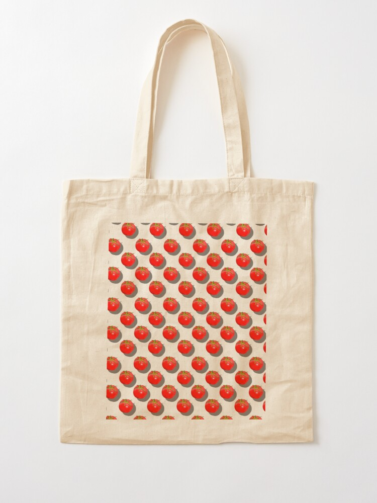 Alternate view of Tomatoes Fruit - Green background Tote Bag