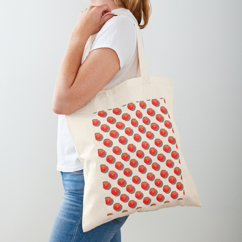 Tomatoes Fruit - Green background Tote Bag
