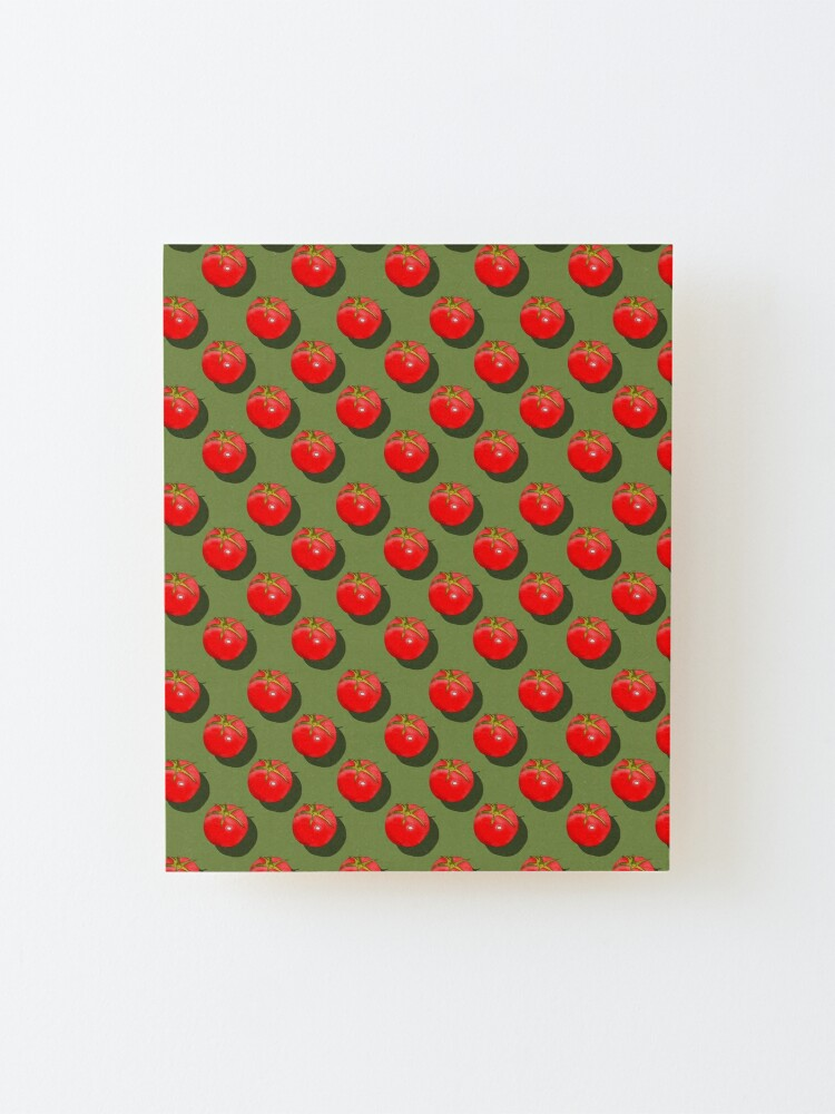 Alternate view of Tomatoes Fruit - Green background Mounted Print