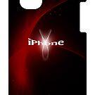 Fashion iphone design red by Amalia Iuliana Chitulescu