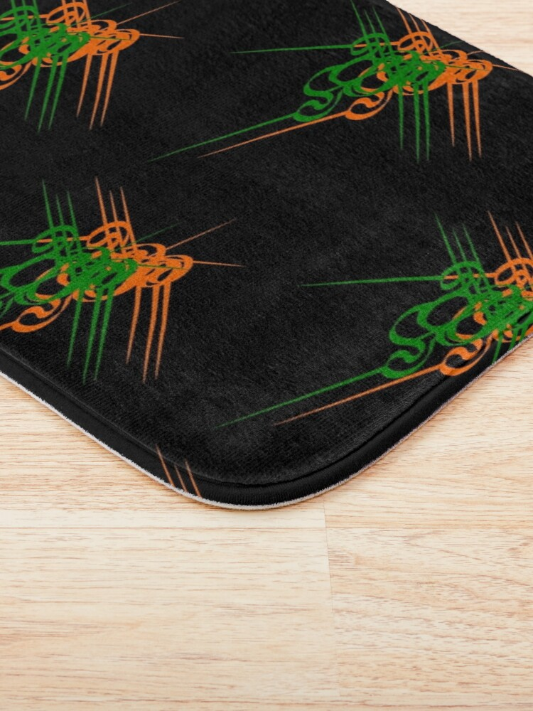 Alternate view of Cluster of clefs - - repeating a detail makes a pattern Bath Mat