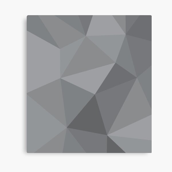 gray low poly Canvas Print