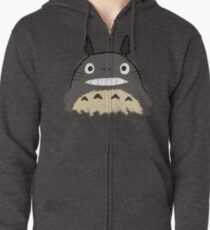 Totoro paint Zipped Hoodie