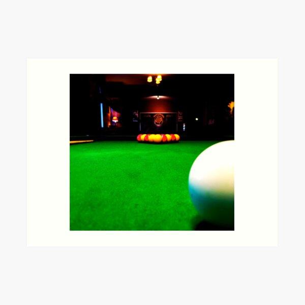 Playing pool Art Print