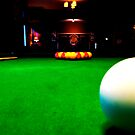 Playing pool by Robert Steadman