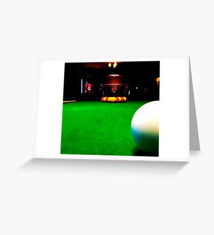 Playing pool Greeting Card