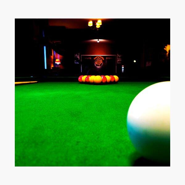 Playing pool Photographic Print