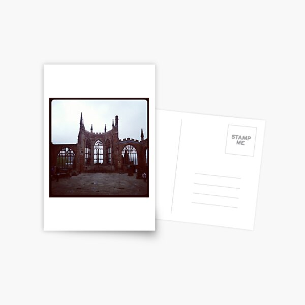 Coventry Old Cathedral Postcard