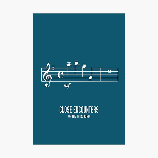 Close Encounters of the Third Kind - Alternative Movie Poster Photographic Print