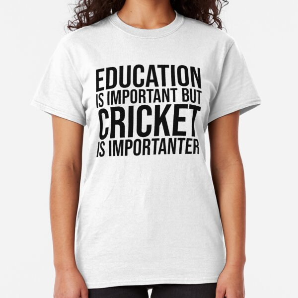 Education Is Important But Bowling Is Importanter Funny Sports T-Shirt