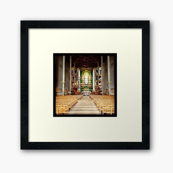 Inside Coventry Cathedral Framed Art Print