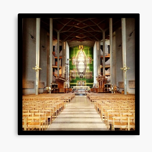 Inside Coventry Cathedral Canvas Print