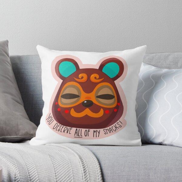 Encouraging Animal Crossing Clay Throw Pillow