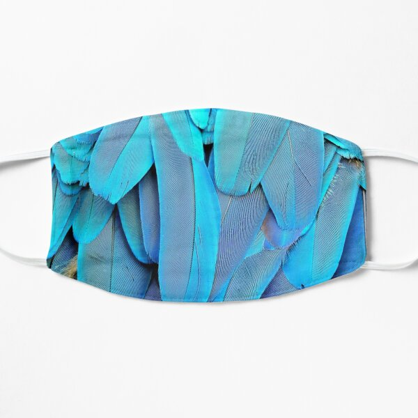 Blue Parrot Flat Mask