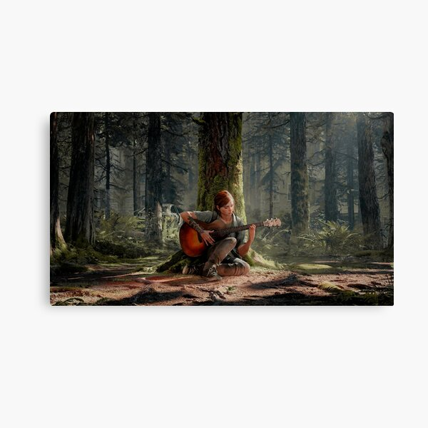 Ellie playing her guitar 4K   The Last of Us Part 2 Canvas Print
