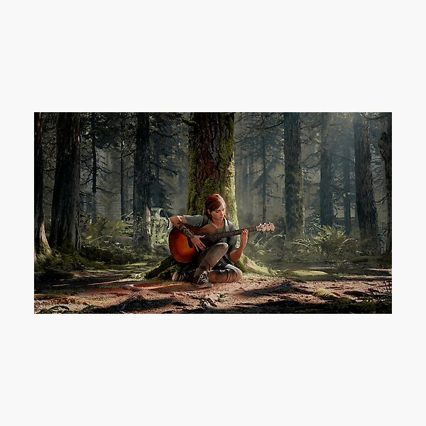 Ellie playing her guitar 4K | The Last of Us Part 2 Photographic Print