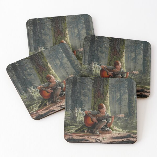 Ellie playing her guitar 4K | The Last of Us Part 2 Coasters (Set of 4)