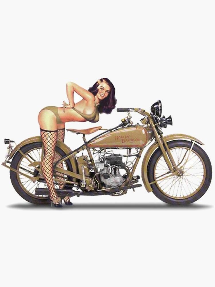 Motorcycle Pin Up Girl by Idjerun