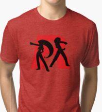 Team Rocket Line art Tri-blend T-Shirt