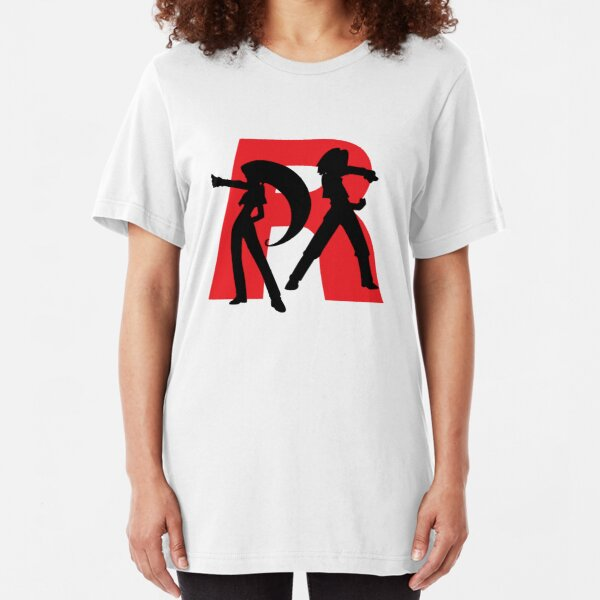 Team Rocket Line art Slim Fit T-Shirt